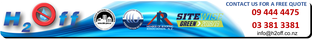 H2OFF Limited - Waterproofing Services in Auckland, Tauranga, Christchurch and Dunedin.